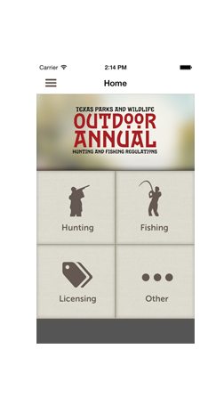 The app door alberta outdoor adventure guide iphone for Texas hunting and fishing license